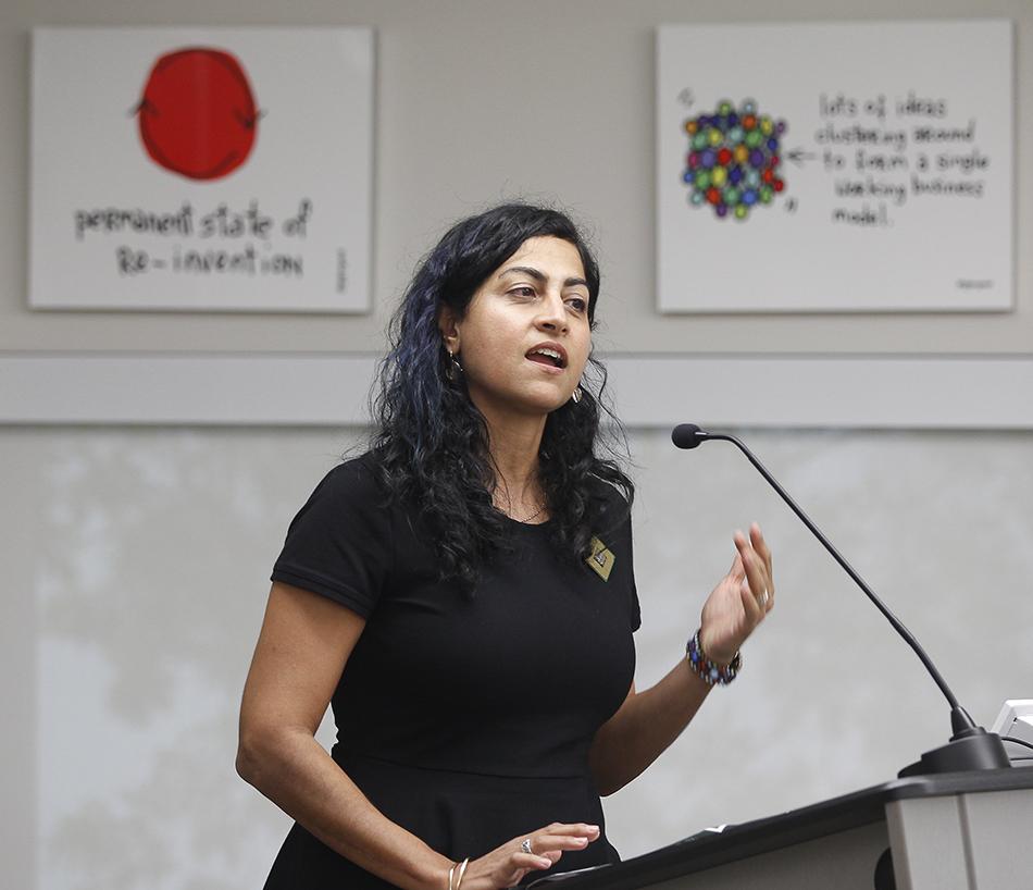 Sawsan Khuri, PhD, moderator at Women in Tech Careers Event