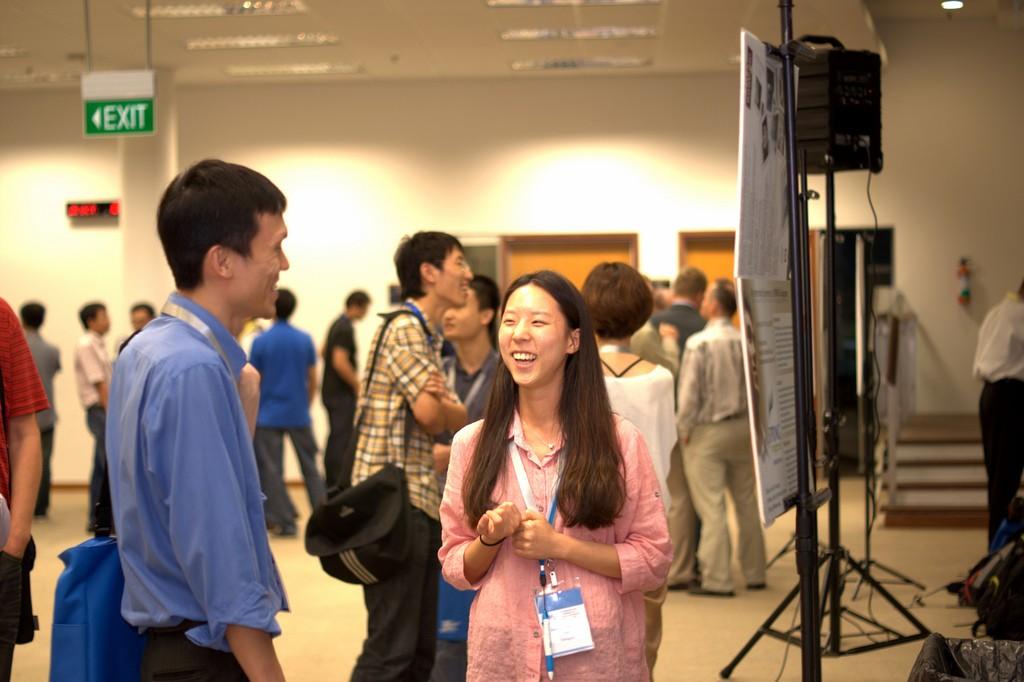 students at a Social Informatics conference