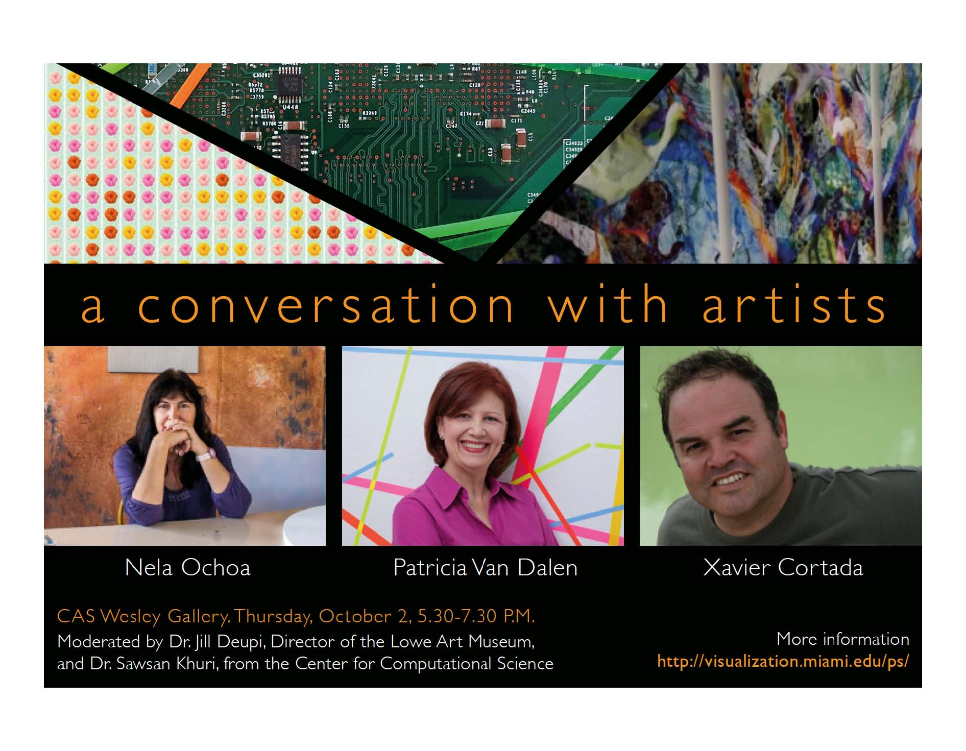 Places & Spaces:  A Conversation with Artists, Thursday, 10/2/2014