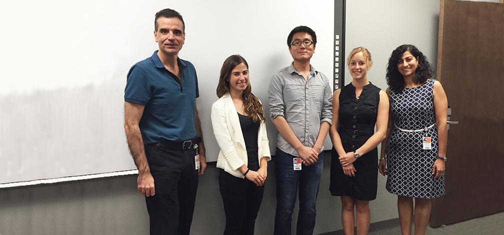 Nicholas Tsinoremas, Lyssa Goldberg, Chun Wu, Katherine Dale, Sawsan Khuri, CCS Fellows 2015