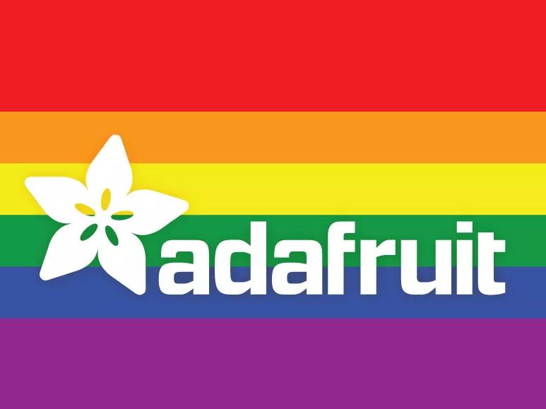 Adafruit rainbow logo