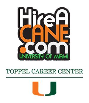 Hire A Cane dot come new Toppel Career Center logo