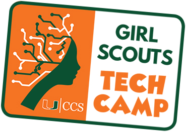 University of Miami Center for Computational Science Girl Scouts Tech Camp patch