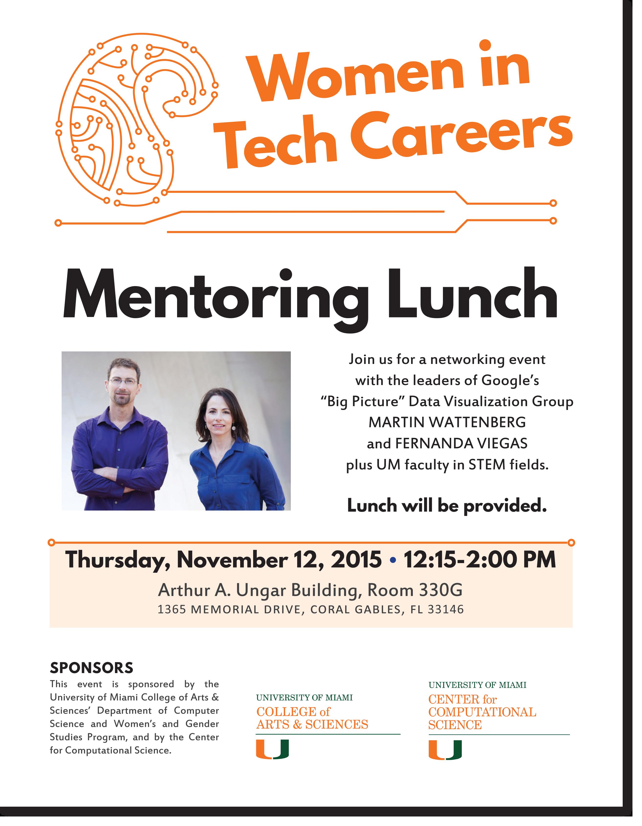 Women in Tech Careers Mentoring Lunch