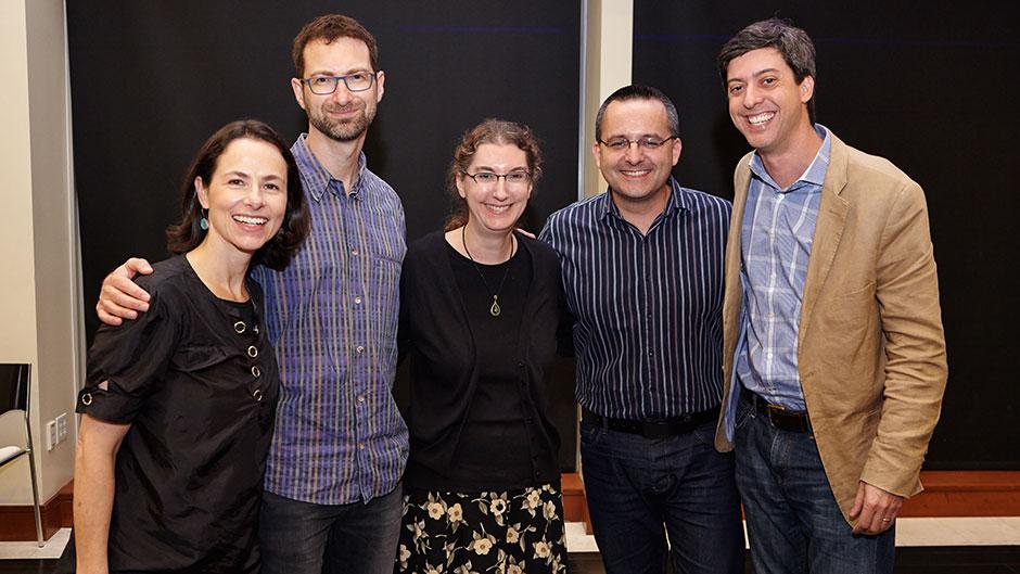 Fernanda Viegas, Martin Wattenberg, Lynn Cherny, Alberto Cairo, Jonathan Schwabish, at 2nd Viz UM Annual Symposium 2015