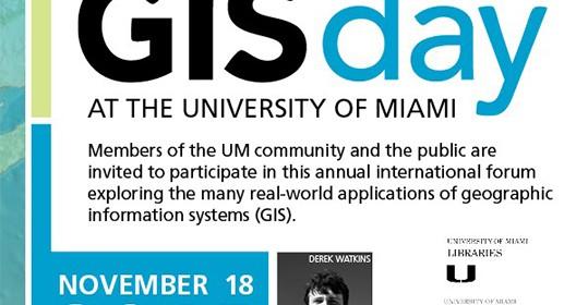 GIS Day at UM, Wednesday 11/18/2015