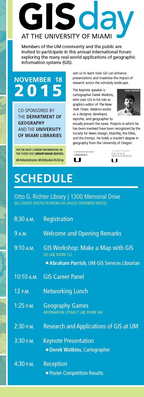2015 GIS Day at University of Miami
