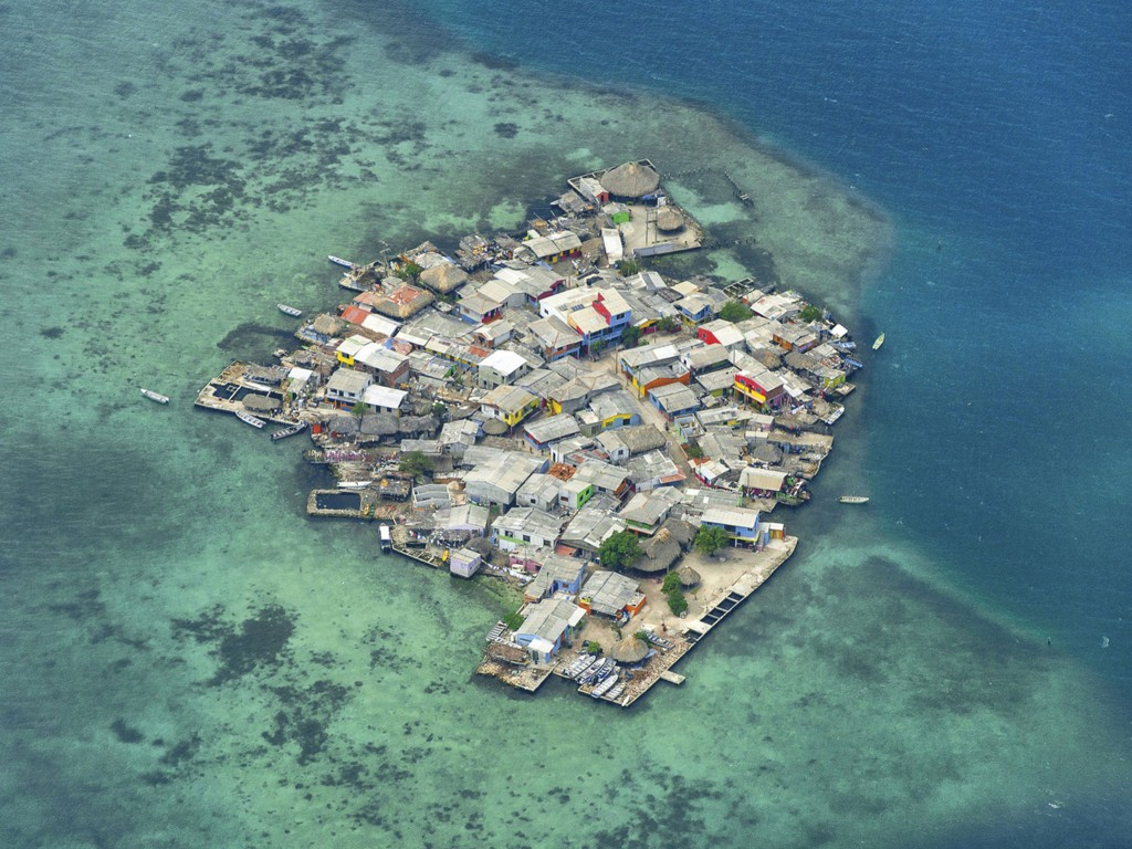 Santa Cruz del Islote, Colombia, the most crowded island on earth