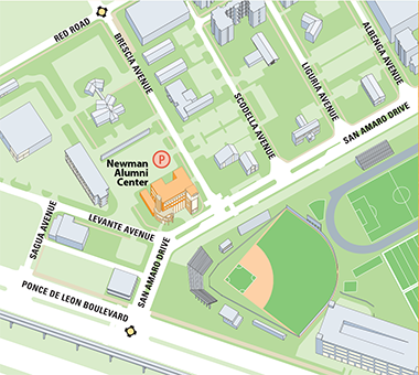 University of Miami Newman Alumni Center parking map