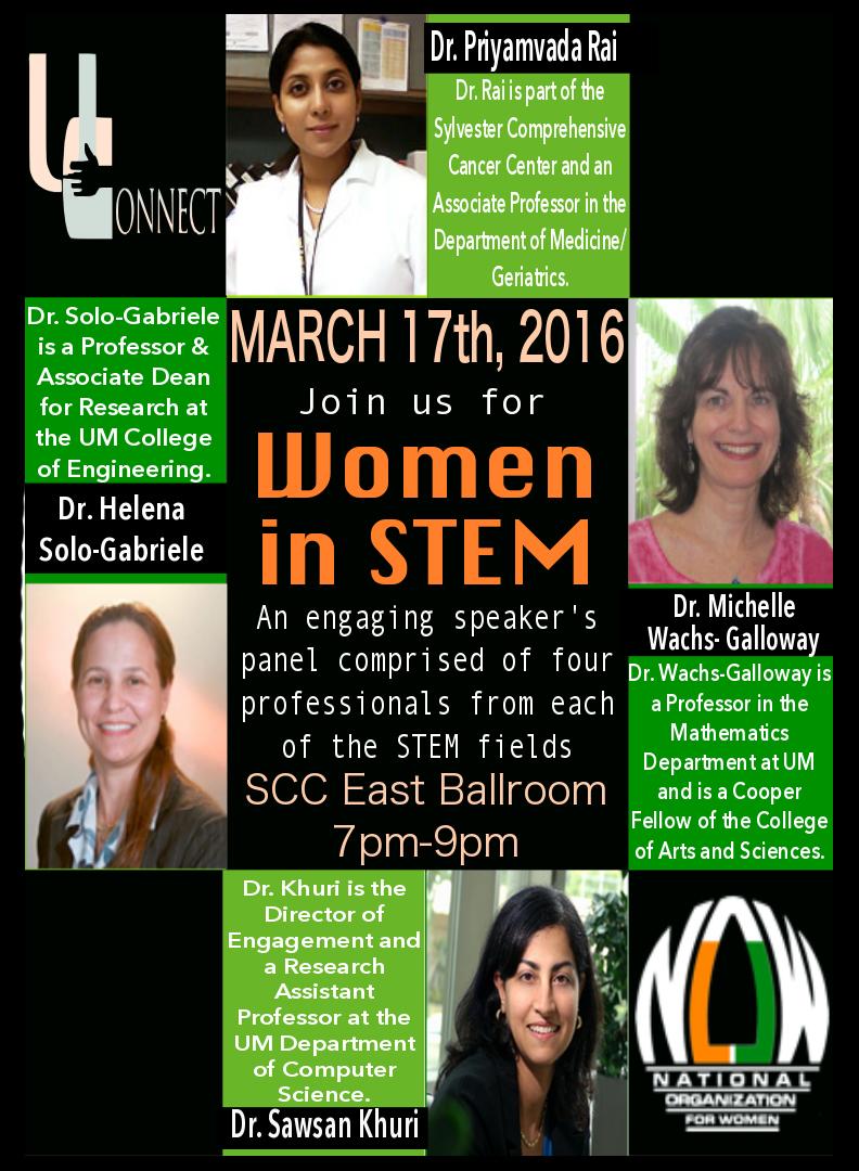 Women in STEM flyer