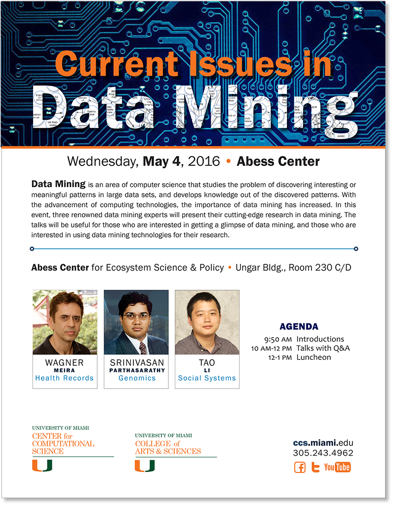 Current Issues in Data Mining flyer
