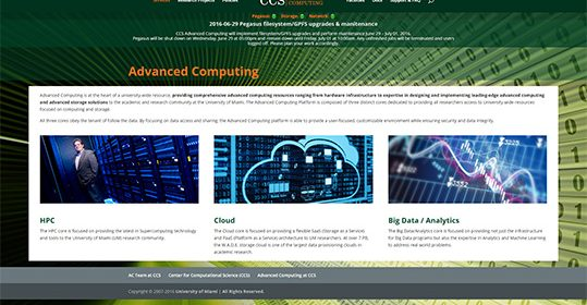 CCS Advanced Computing Launches Redesigned Website