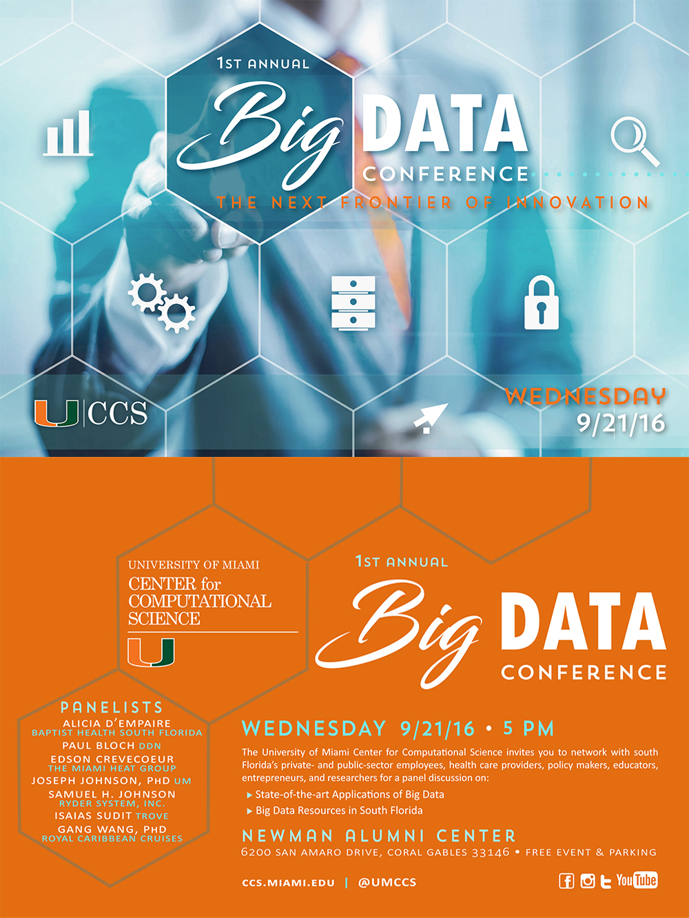 """1st Annual CCS """"BIG DATA Conference"""" 9/21/2016 offered Panel"""