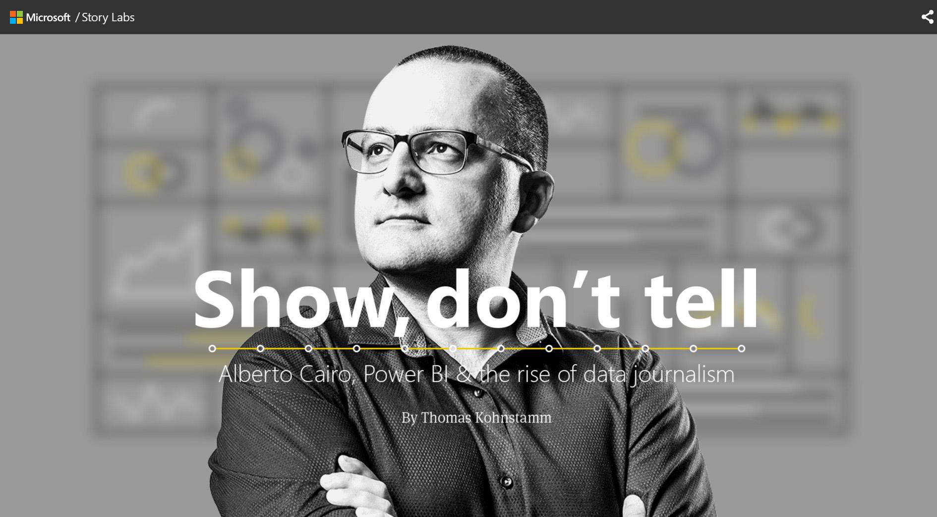 """Show, don't tell"" MICROSOFT interview of Alberto Cairo"