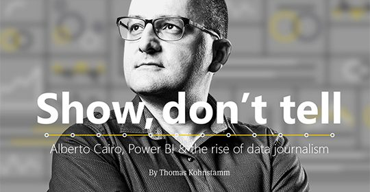 "MICROSOFT profiles CCS Visualization Director Alberto Cairo in ""Show, don't tell"""