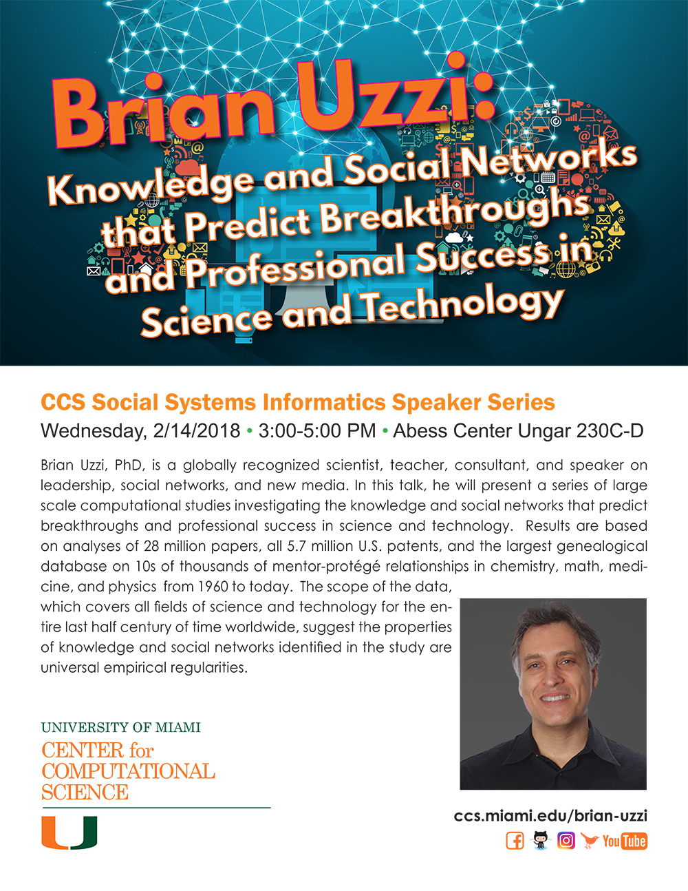 Brian Uzzi Knowledge and Social Networks that Predict Breakthroughs and Professional Success in Science and Technology