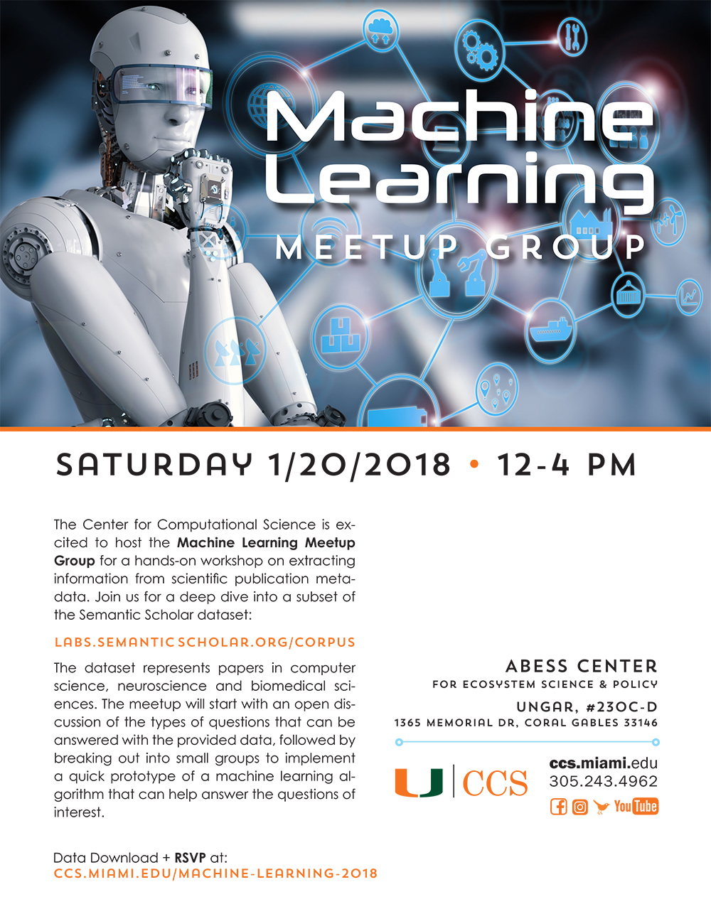 Machine Learning Meetup Group Flyer