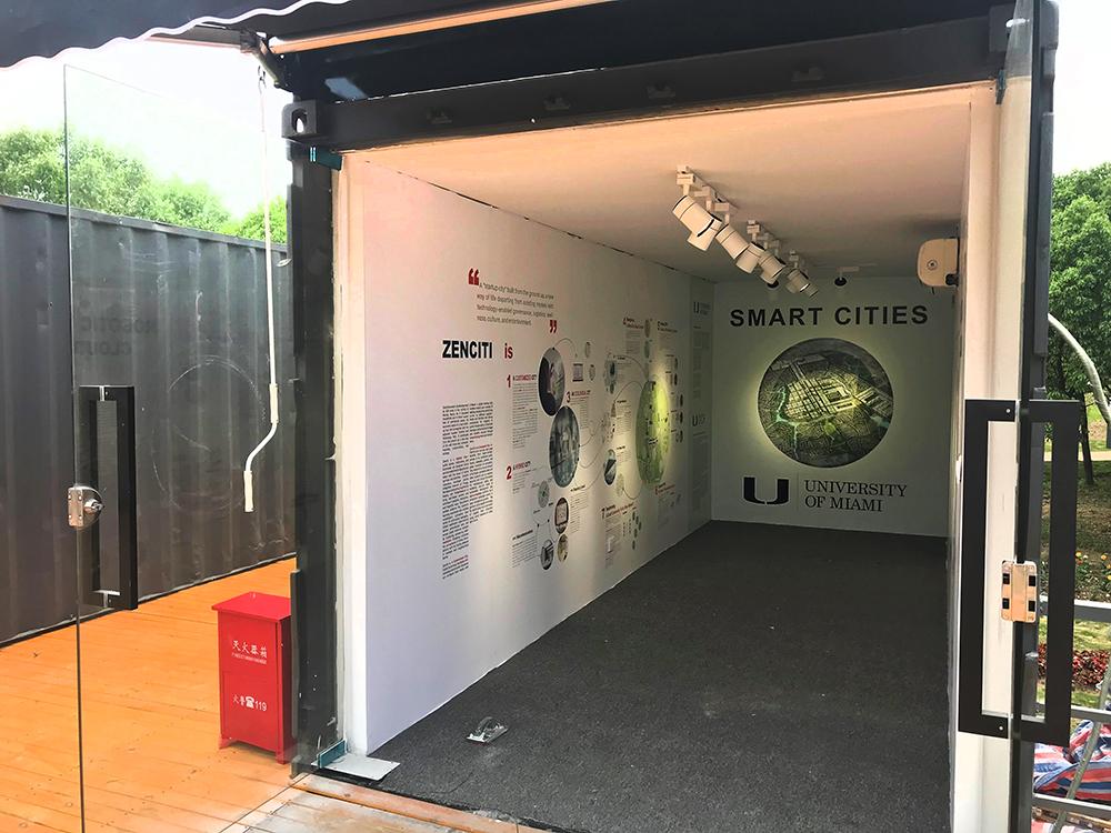WIEE 2018 World Innovation and Entrepreneurship Expo, Shanghai, University of Miami School of Architecture Smart Cities display featuring Zenciti
