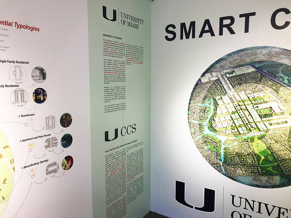 WIEE 2018 World Innovation and Entrepreneurship Expo, Shanghai, University of Miami School of Architecture Smart Cities container display featuring Zenciti and RAD-UM robotic cloud