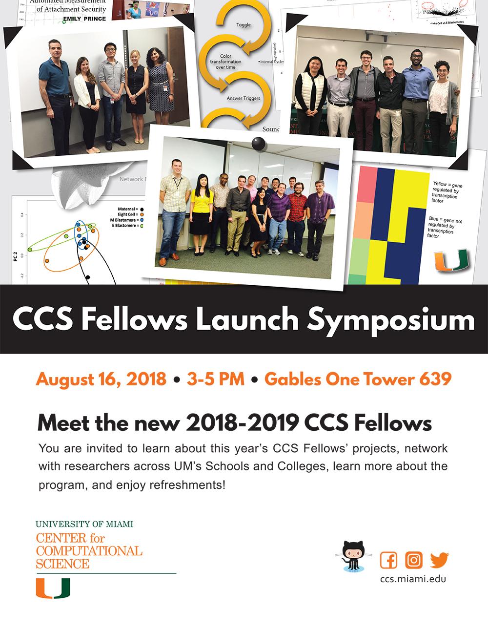 2018-2019 CCS Fellows Launch Symposium Invitation