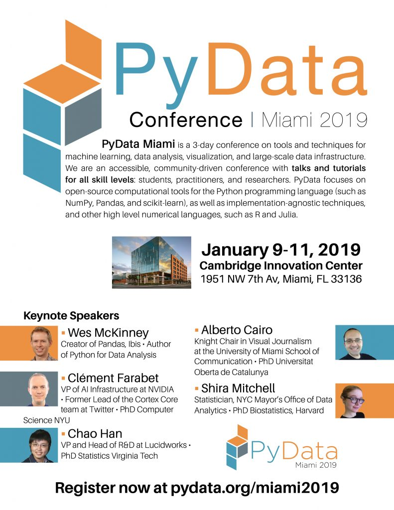 PyData Miami 2019 Flyer