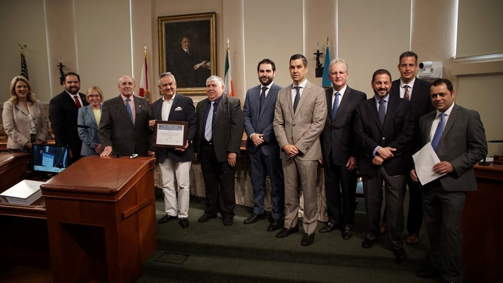 Kayros Team (Justo Vera-Ayessteran and Tupack Rhea) recognition at Coral Gables City Commission Meeting, May 17, 2019