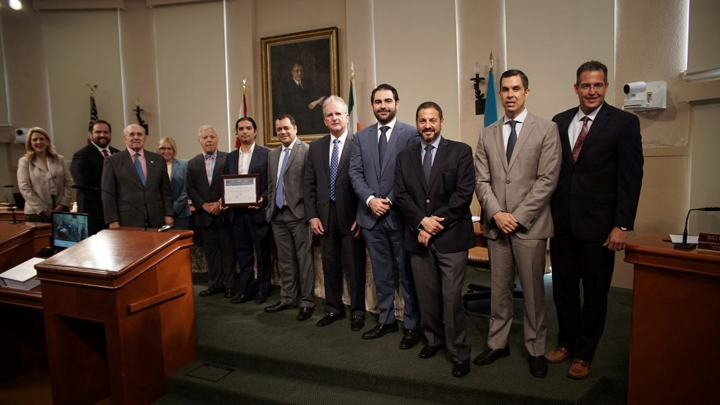 The Laboratory of Everyday Things - N.O.T. Team (Teofilo Victoria and Adib Cure) recognition at Coral Gables City Commission Meeting, May 17, 2019