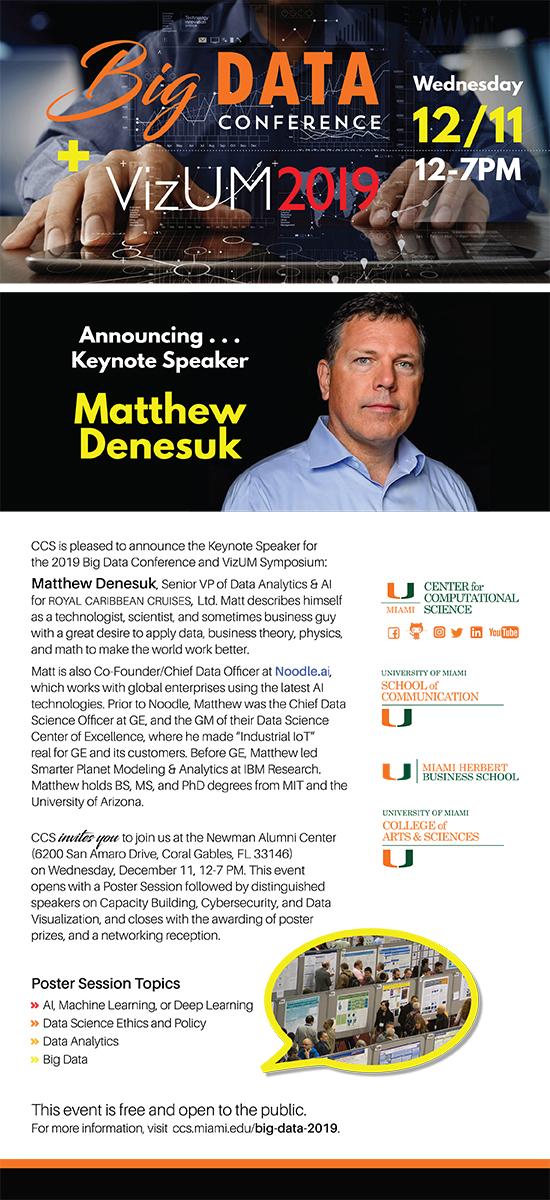 Big Data Conference 2019 Keynote Speaker Flyer