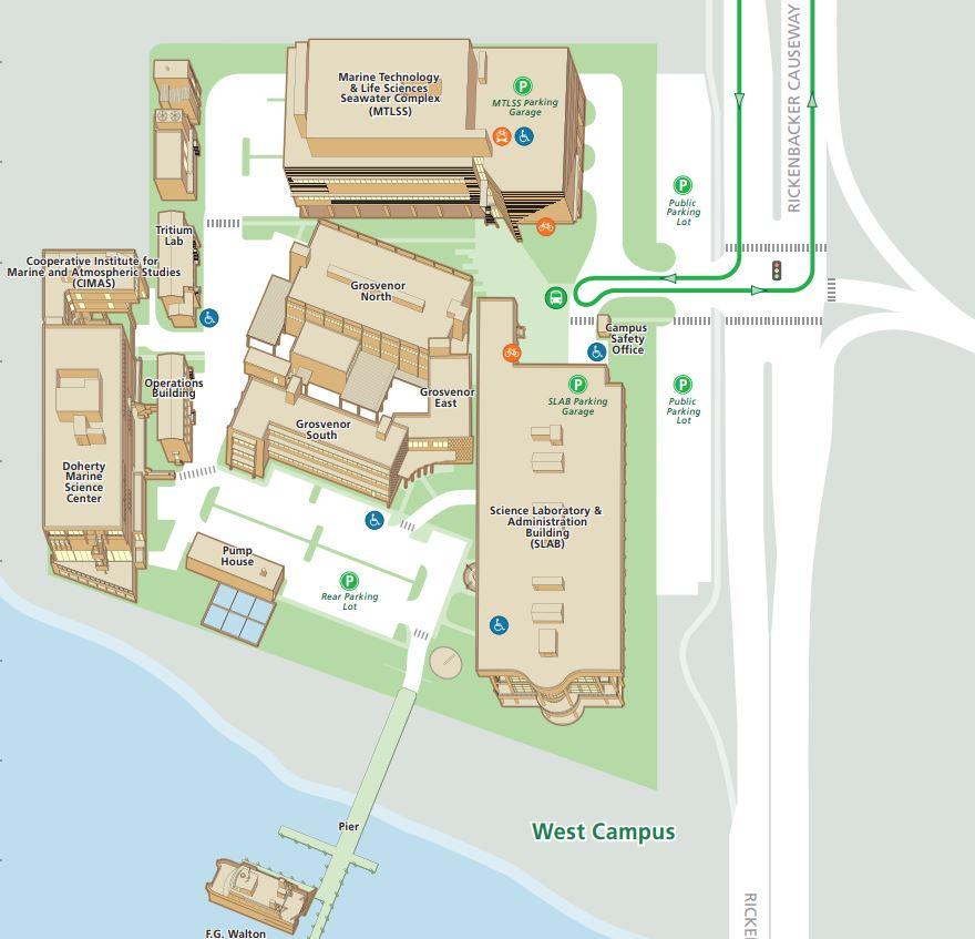 Rosenstiel School of Marine & Atmospheric Science campus map
